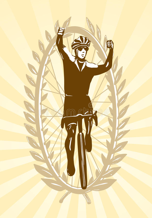Download Cyclist Celebrating His Win Stock Vector - Illustration of gold, honor: 25725110