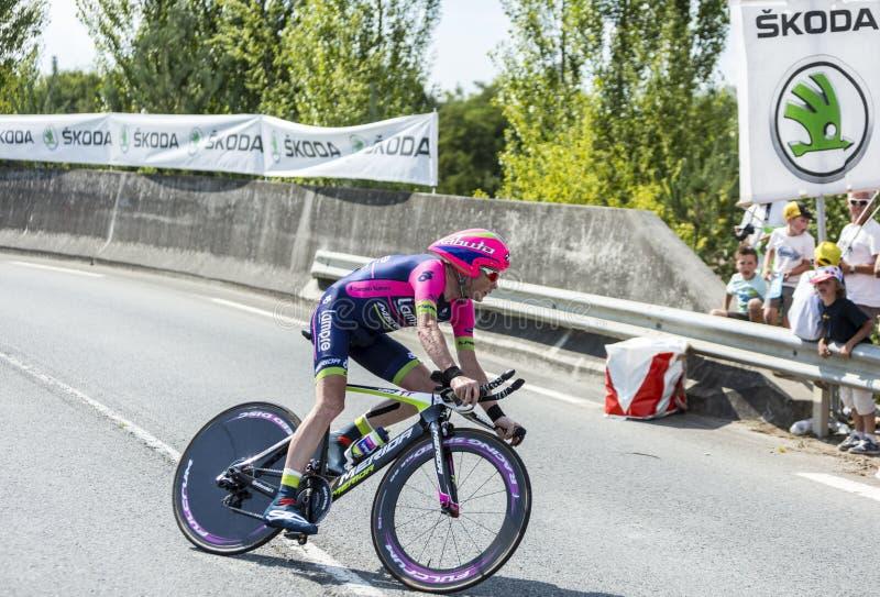 The Cyclist Chris Horner - Tour de France 2014 stock images