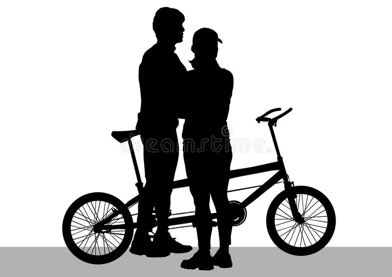 Download Cyclist couples tandem stock vector. Image of activity - 19172006