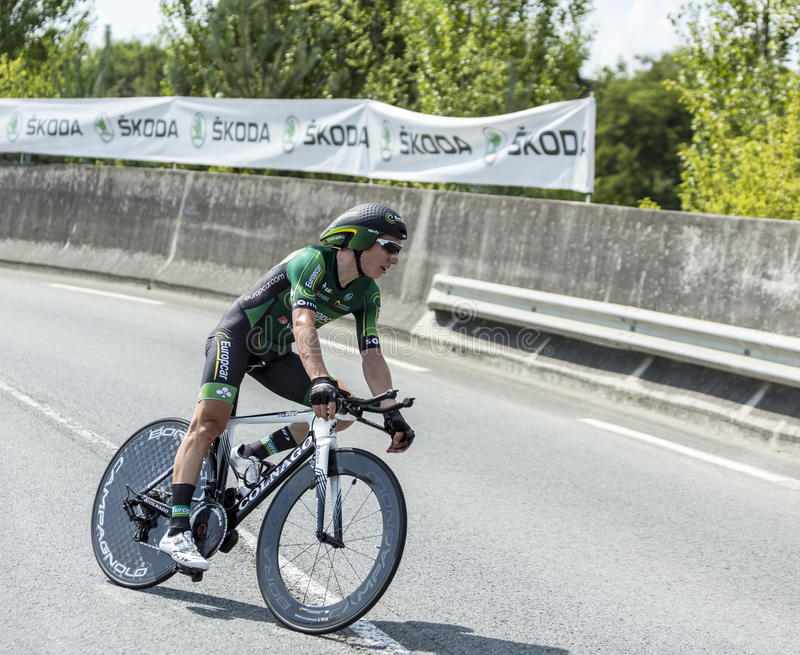 The Cyclist Cyril Gautier - Tour de France 2014 royalty free stock images