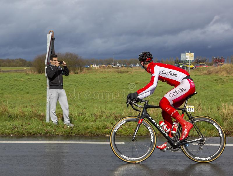 The Cyclist Dimitri Claeys - Paris-Nice 2017 royalty free stock photo