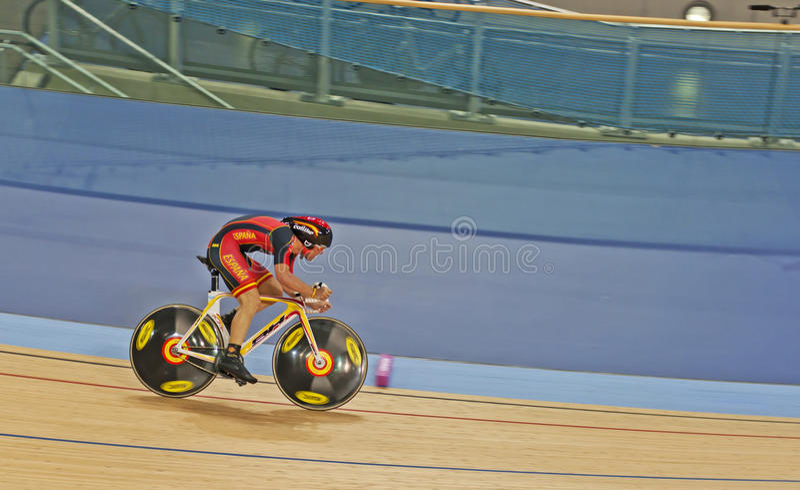Cyclist Eloy Teruel Rovira of Spain. Spain's Olympic hopeful Eloy Teruel Rovira royalty free stock photos