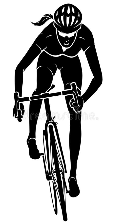 Free Cyclist Female Front View Royalty Free Stock Photography - 153341717
