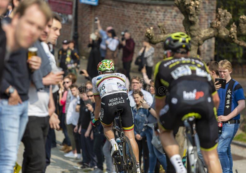 The Cyclist Gediminas Bagdonas - Ronde van Vlaanderen 2019 royalty-vrije stock afbeelding