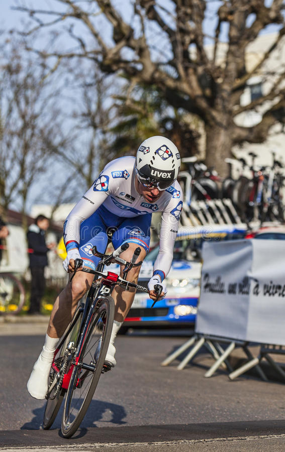 The Cyclist Geniez Alexandre- Paris Nice 2013 Prologue In Houill Editorial Photo