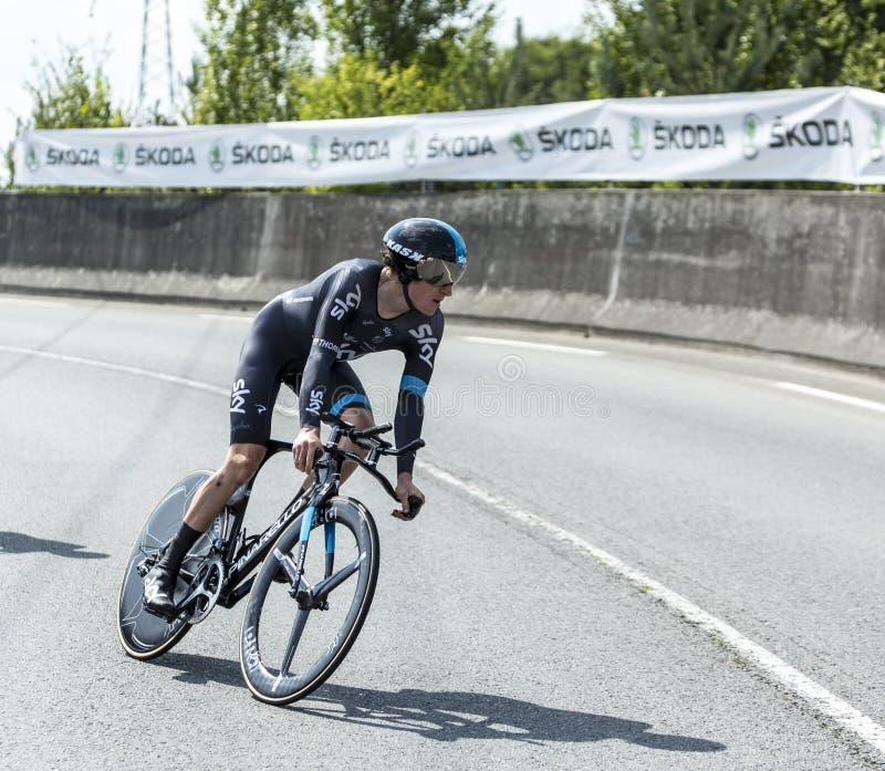 The Cyclist Geraint Thomas - Tour de France 2014 royalty free stock photo
