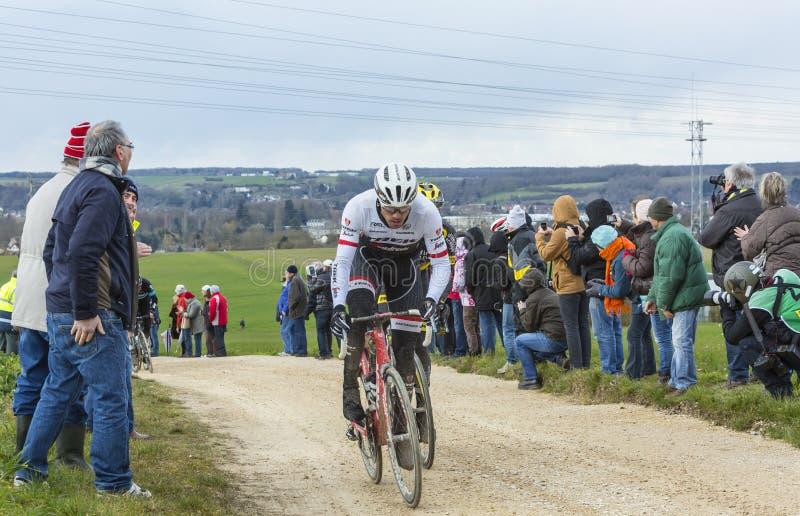 The Cyclist Gregory Rast - Paris-Nice 2016 royalty free stock image