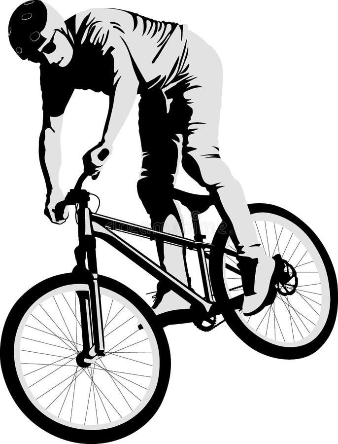 cyclist ilustração royalty free