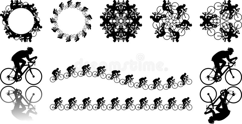 Download Cyclist illustrations stock vector. Image of male, person - 2657493