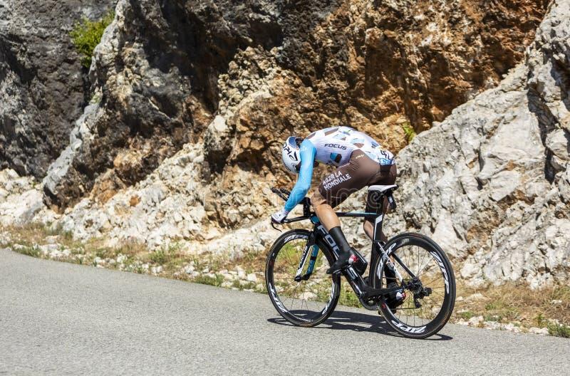 The Cyclist Jan Bakelants - Tour de France 2016 royalty free stock photo