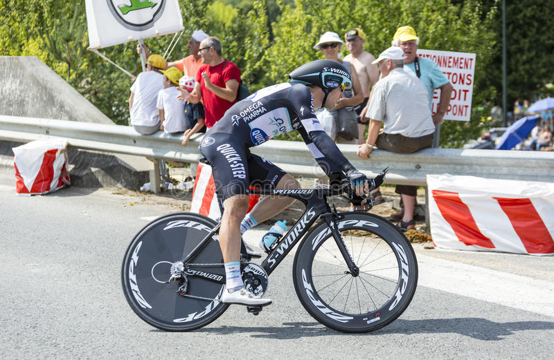 The Cyclist Jan Bakelants - Tour de France 2014 stock photo