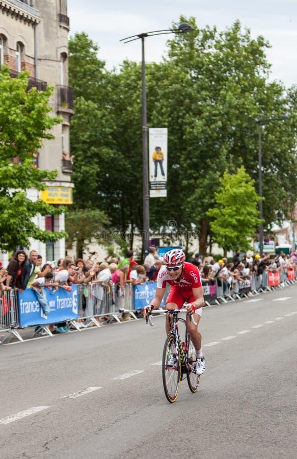 The Cyclist Jan Ghyselinck Editorial Image