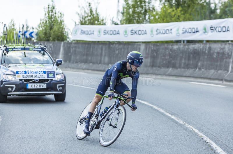 The Cyclist Jon Izagirre Insausti - Tour de France 2014 royalty free stock photos