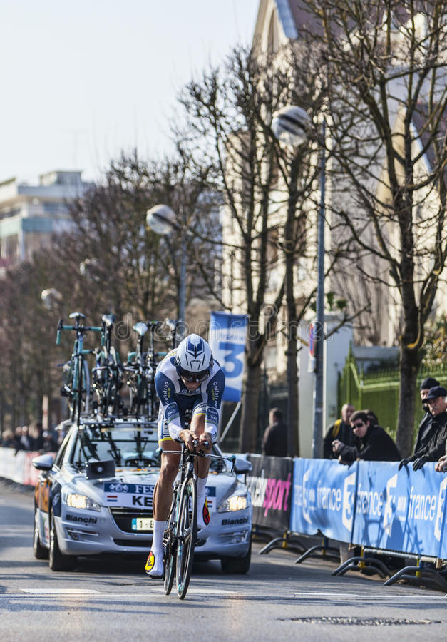Download The Cyclist Keizer Martijn- Paris Nice 2013 Prologue In Houilles Editorial Photo - Image: 31309021
