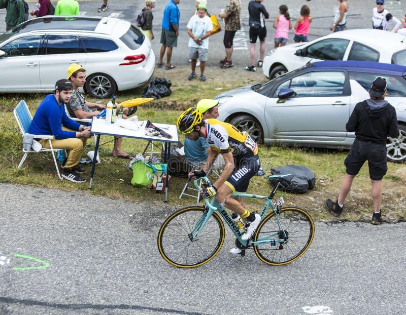 The Cyclist Laurens ten Dam - Tour de France 2015 stock images
