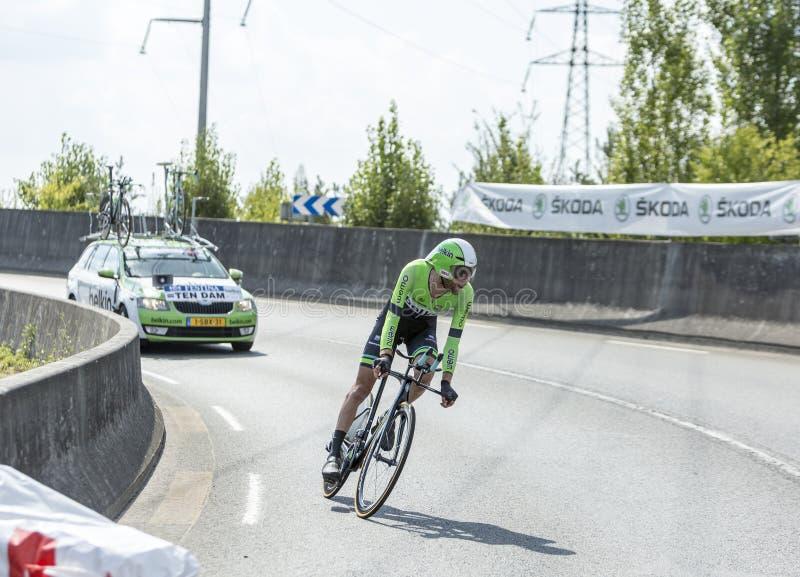 The Cyclist Laurens Ten Dam - Tour de France 2014 royalty free stock photo