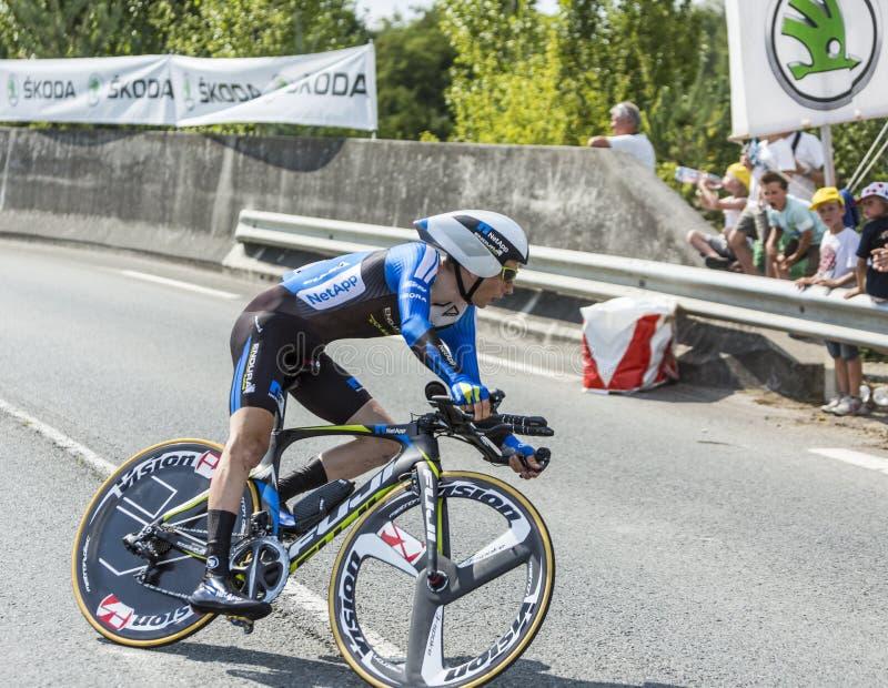 The Cyclist Leopold Konig - Tour de France 2014 royalty free stock photo