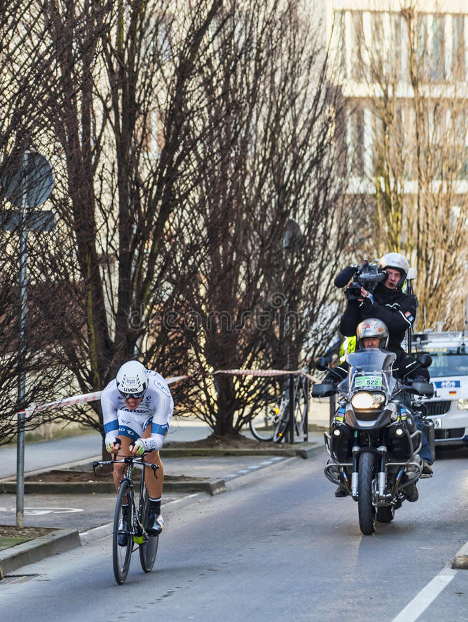 The Cyclist Marcel Kittel- Paris Nice 2013 Prologue In Houilles Editorial Photo