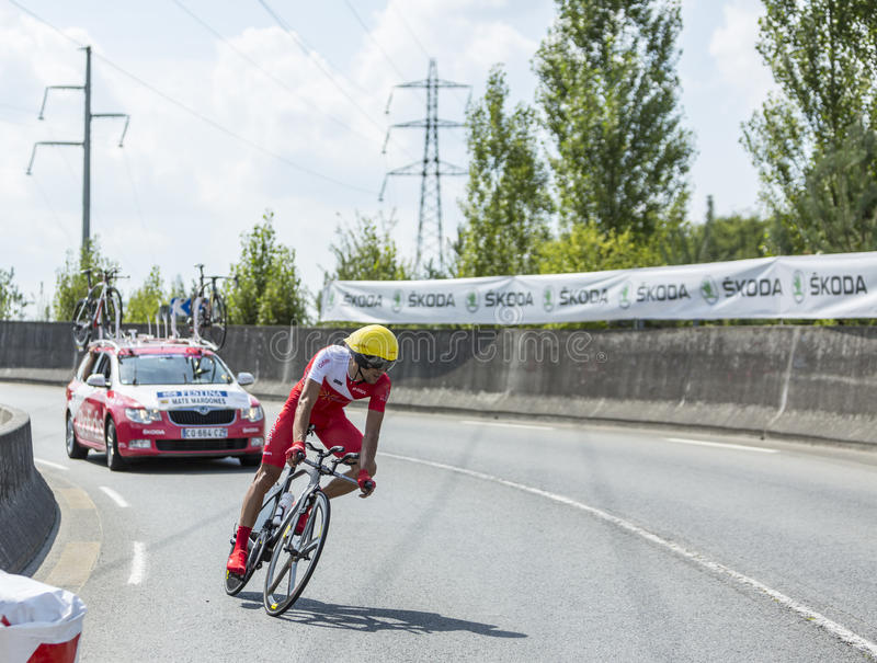 The Cyclist Mate Mardones - Tour de France 2014 royalty free stock image