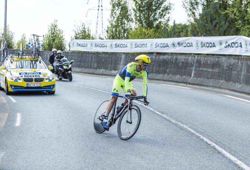 The Cyclist Michael Rogers - Tour de France 2014 stock image