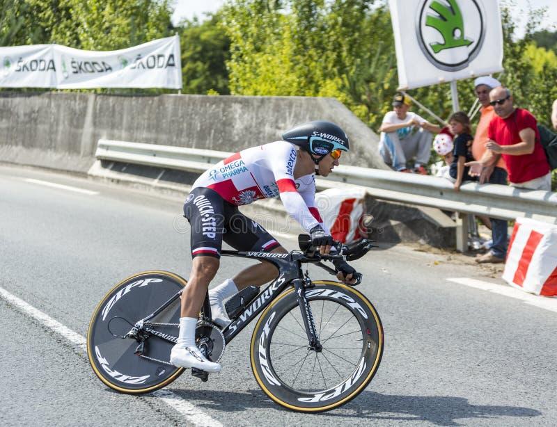 The Cyclist Michal Kwiatkowski - Tour de France 2014 stock photo