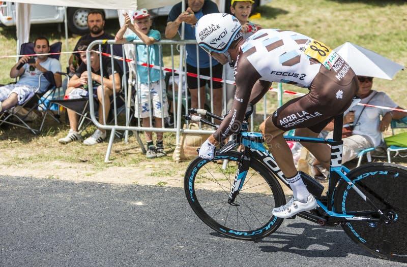 The Cyclist Mikael Cherel - Tour de France 2015 stock photography