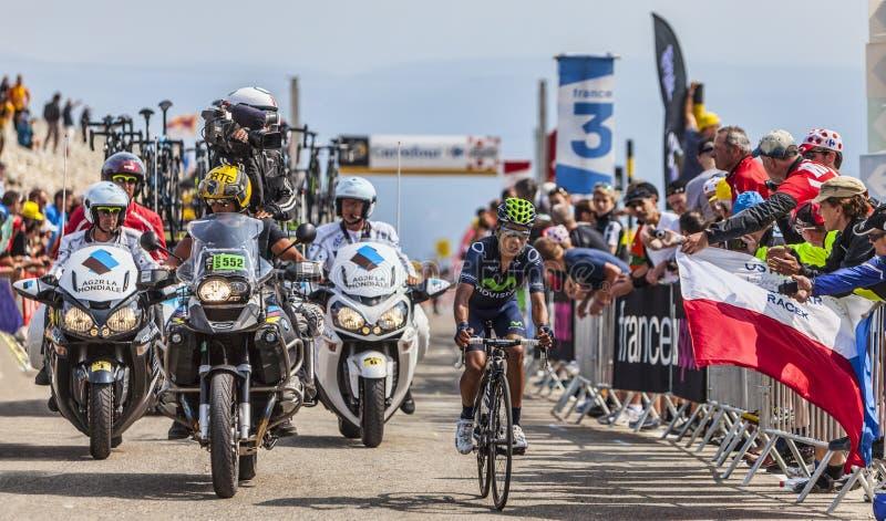 The Cyclist Nairo Alexander Quintana Rojas on Mont Ventoux