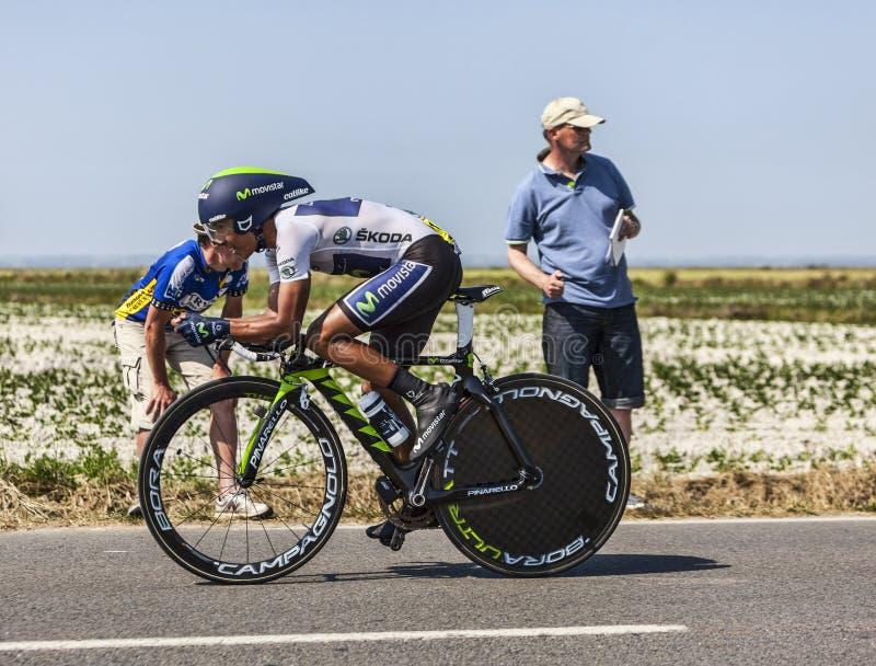 Download The Cyclist Nairo Alexander Quintana Rojas- White Jersey Editorial Photo - Image: 33252541