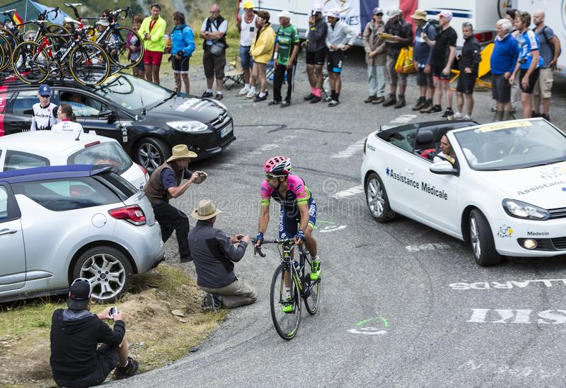The Cyclist Nelson Oliveira - Tour de France 2015 stock images