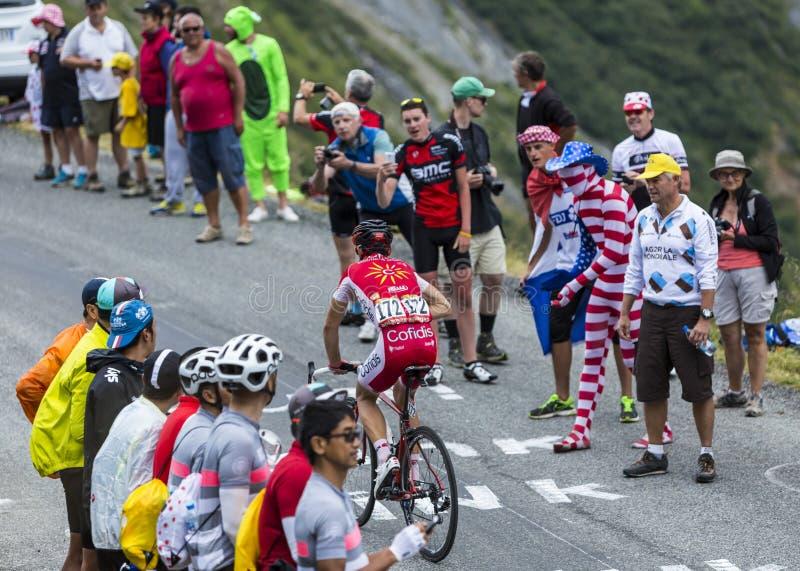 The Cyclist Nicolas Edet - Tour de France 2015 royalty free stock photo