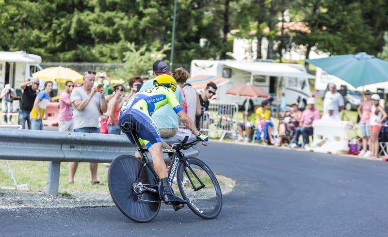The Cyclist Nicolas Roche - Tour de France 2014 stock photography