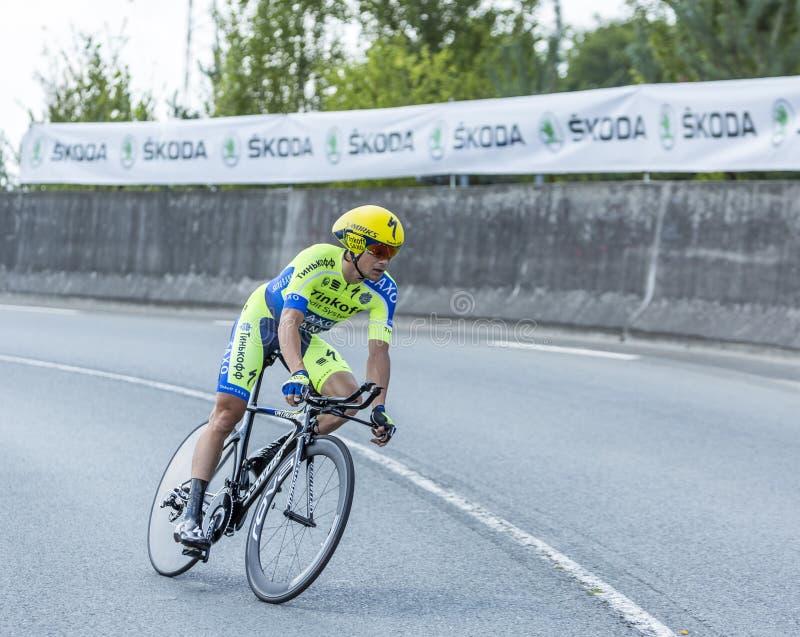 The Cyclist Nicolas Roche - Tour de France 2014 royalty free stock photo