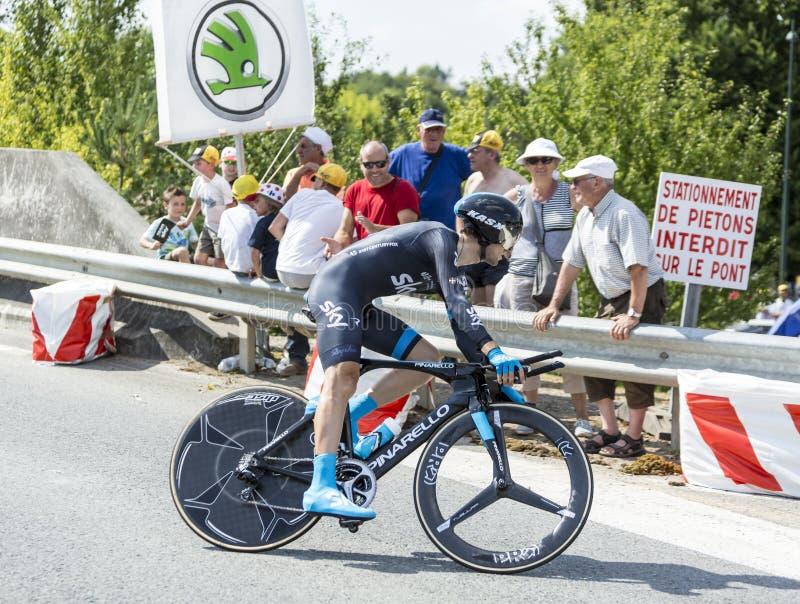 The Cyclist Nieve Iturralde - Tour de France 2014 royalty free stock image