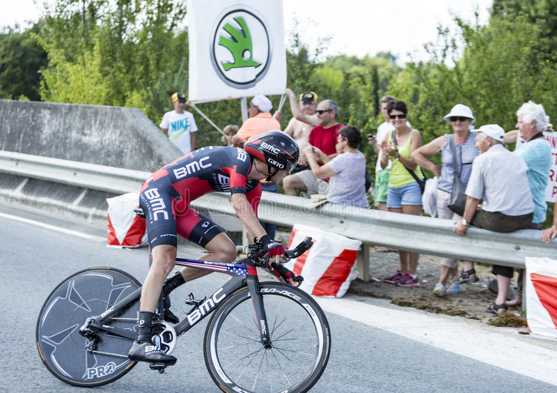 The Cyclist Peter Stetina - Tour de France 2014 royalty free stock photo