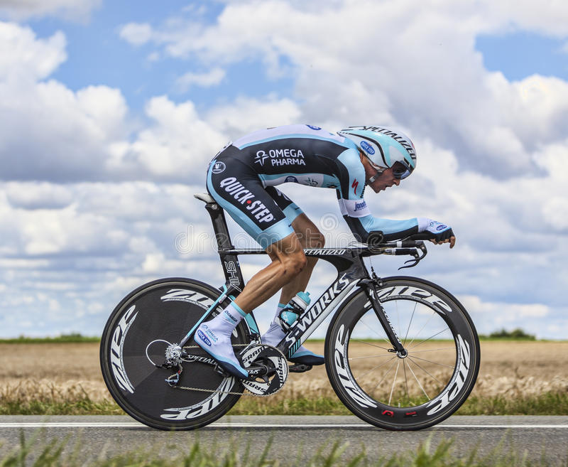 The Cyclist Peter Velits royalty free stock images