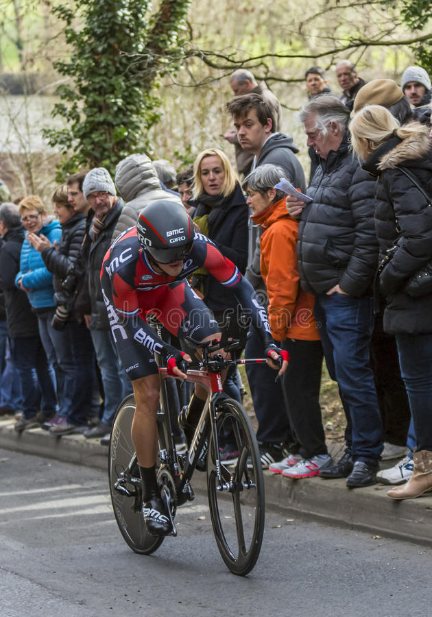 The Cyclist Peter Velits - Paris-Nice 2016 royalty free stock images