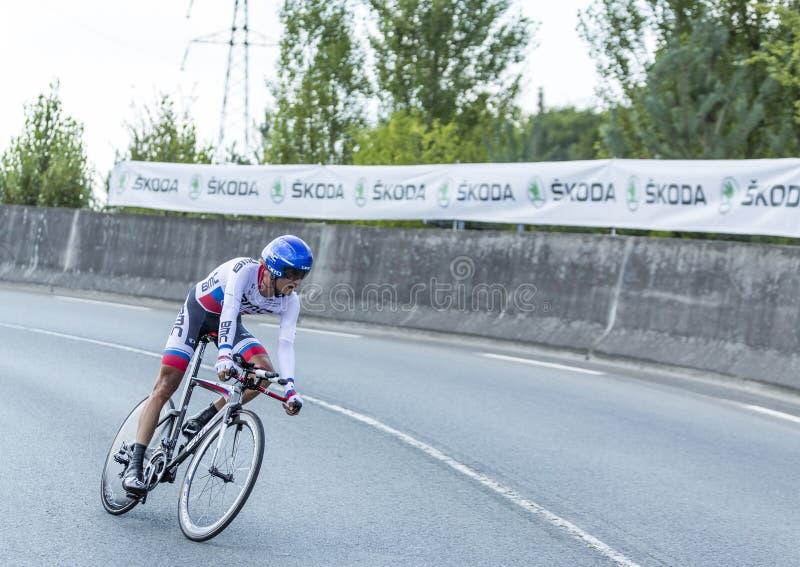 The Cyclist Peter Velits - Tour de France 2014 stock image
