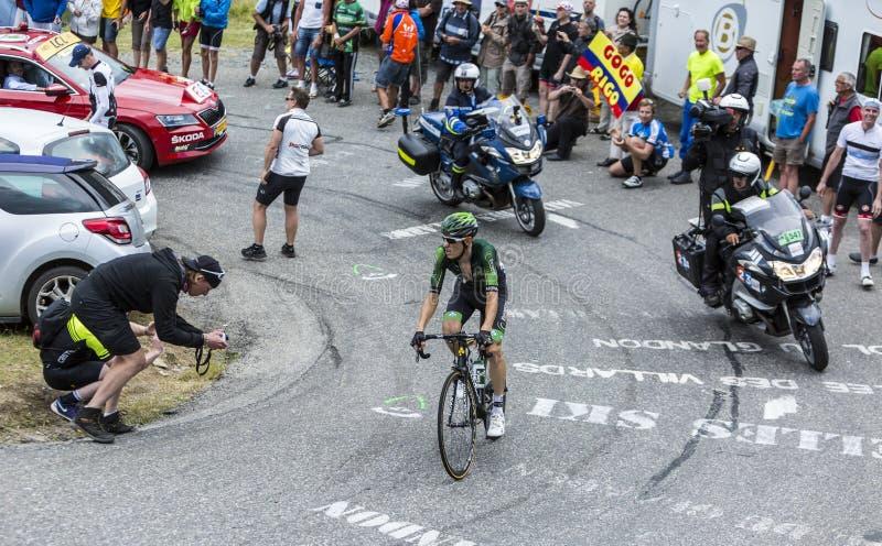 The Cyclist Pierre Rolland - Tour de France 2015 stock photo