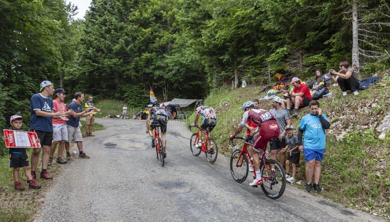 The Cyclist Reto Hollenstein - Tour de France 2017 stock images