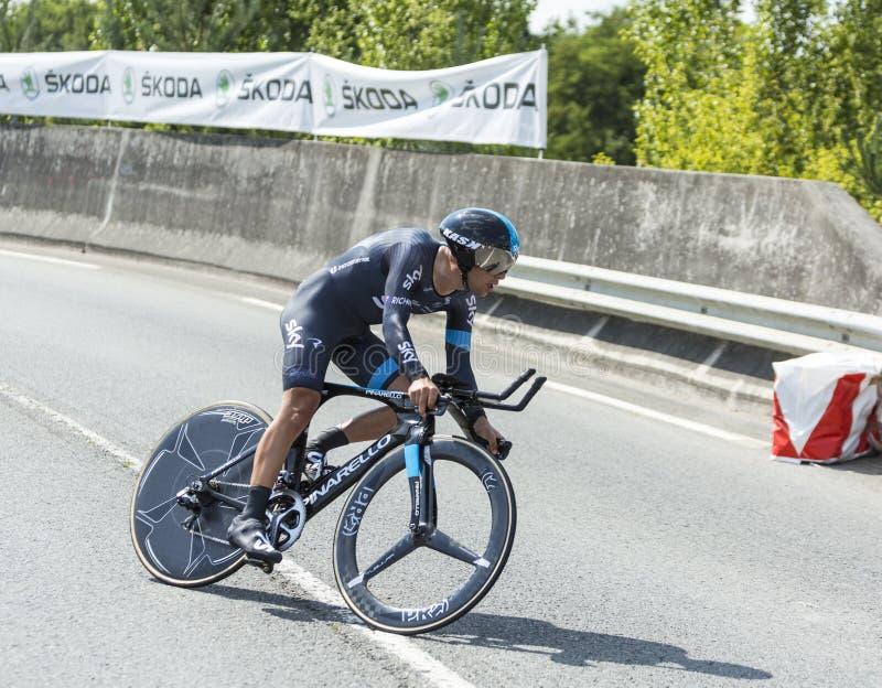 The Cyclist Richie Porte - Tour de France 2014 stock image