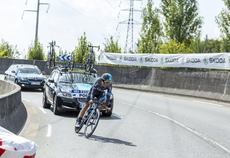 The Cyclist Richie Porte - Tour de France 2014 royalty free stock images