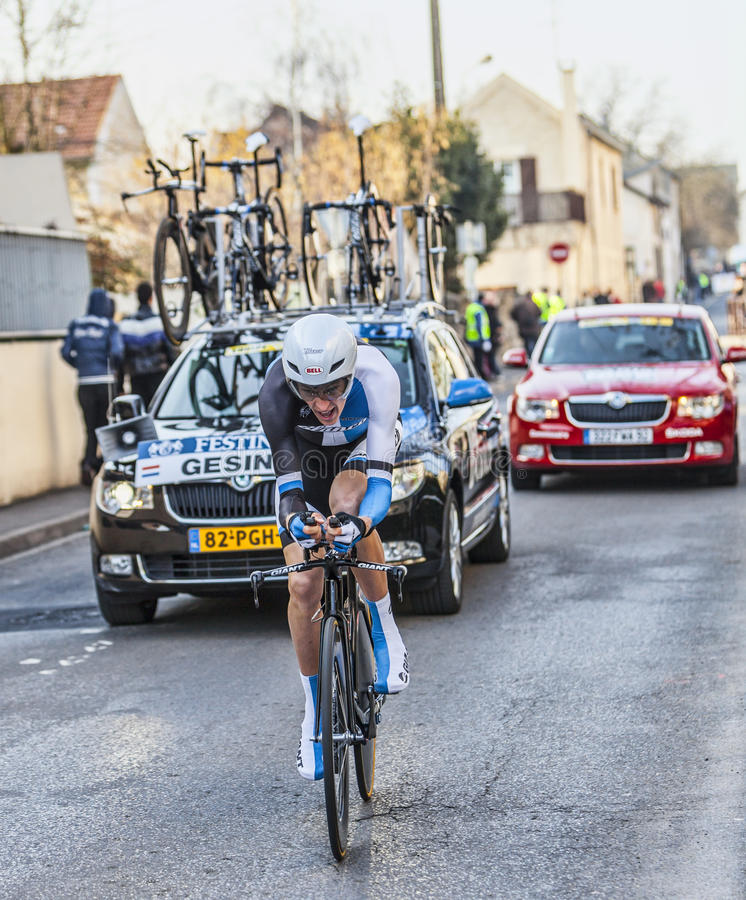 Download The Cyclist Robert Gesink- Paris Nice 2013 Prologue In Houilles Editorial Photography - Image: 31465197