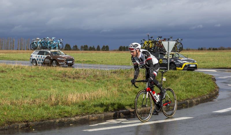 The Cyclist Roy Curvers - Paris-Nice 2017 royalty free stock image