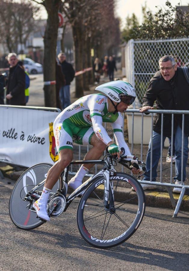 Download The Cyclist Simon Julien- Paris Nice 2013 Prologue Editorial Stock Image - Image: 31323714