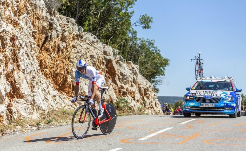 The Cyclist Steve Morabito - Tour de France 2016 royalty free stock images
