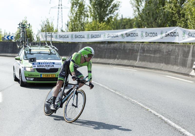 The Cyclist Steven Kruijswijk - Tour de France 2014 stock images
