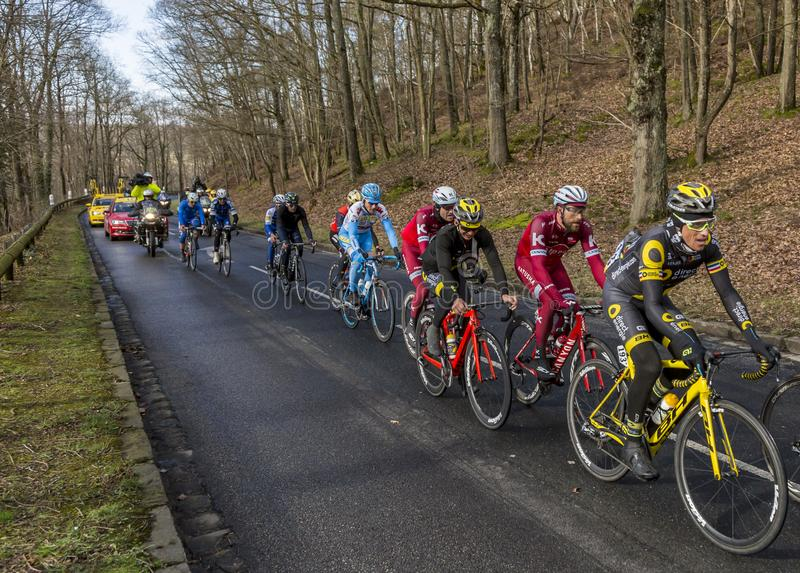 The Cyclist Sylvain Chavanel - Paris-Nice 2017 stock image