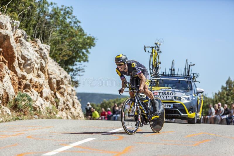 The Cyclist Sylvain Chavanel - Tour de France 2016 stock photo