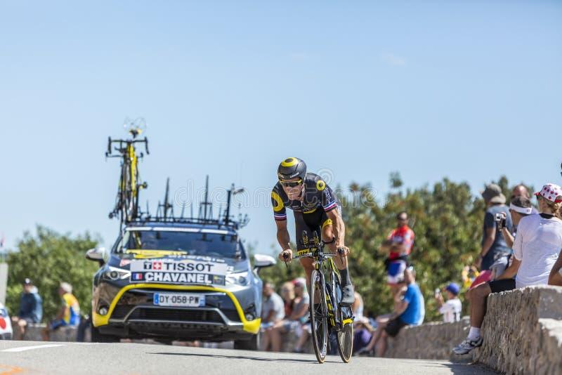 The Cyclist Sylvain Chavanel - Tour de France 2016 stock image