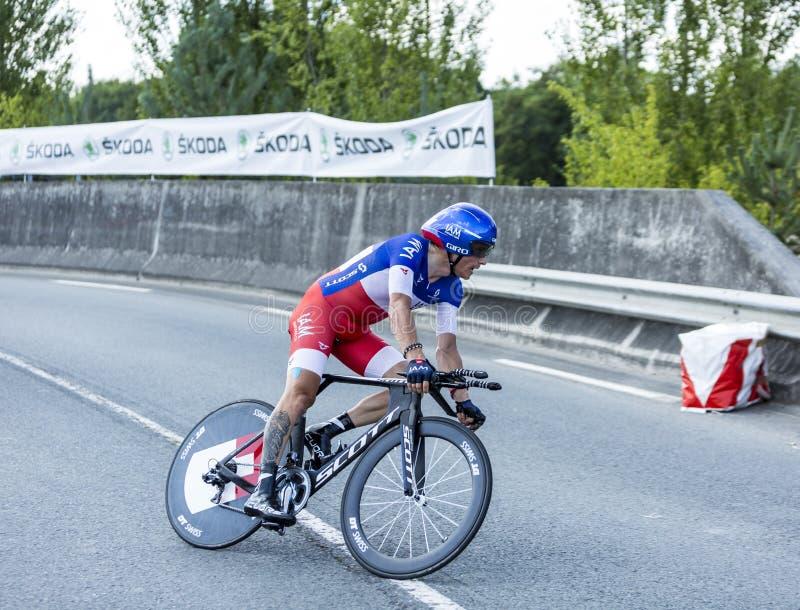 The Cyclist Sylvain Chavanel - Tour de France 2014 royalty free stock images